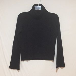 Madewell Ribbed Turtleneck Sweater Black